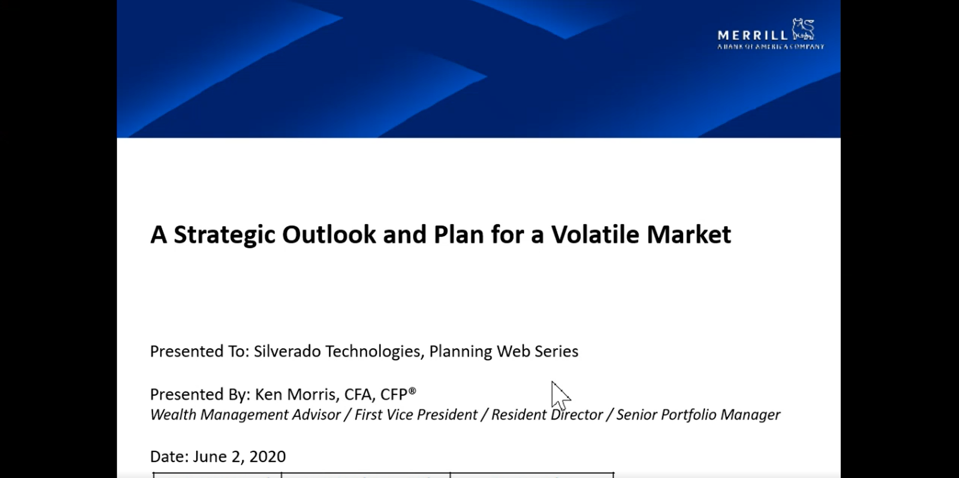 Planning for a Volatile Market